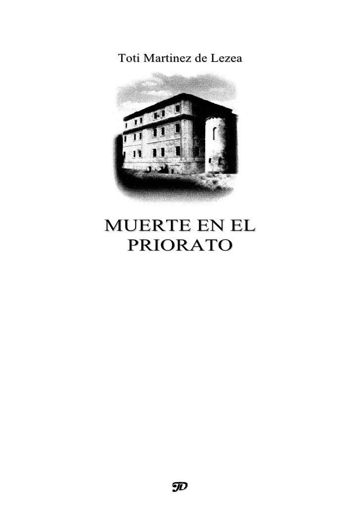 Toti Martinez de LezeaMUERTE EN EL PRIORATO