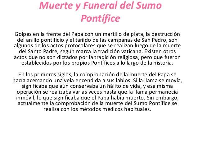 Muerte y Funeral del Sumo                  PontíficeGolpes en la frente del Papa con un martillo de plata, la destrucción ...