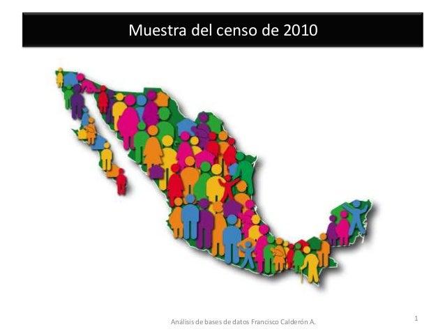 Muestra del censo de 2010 (con audio)