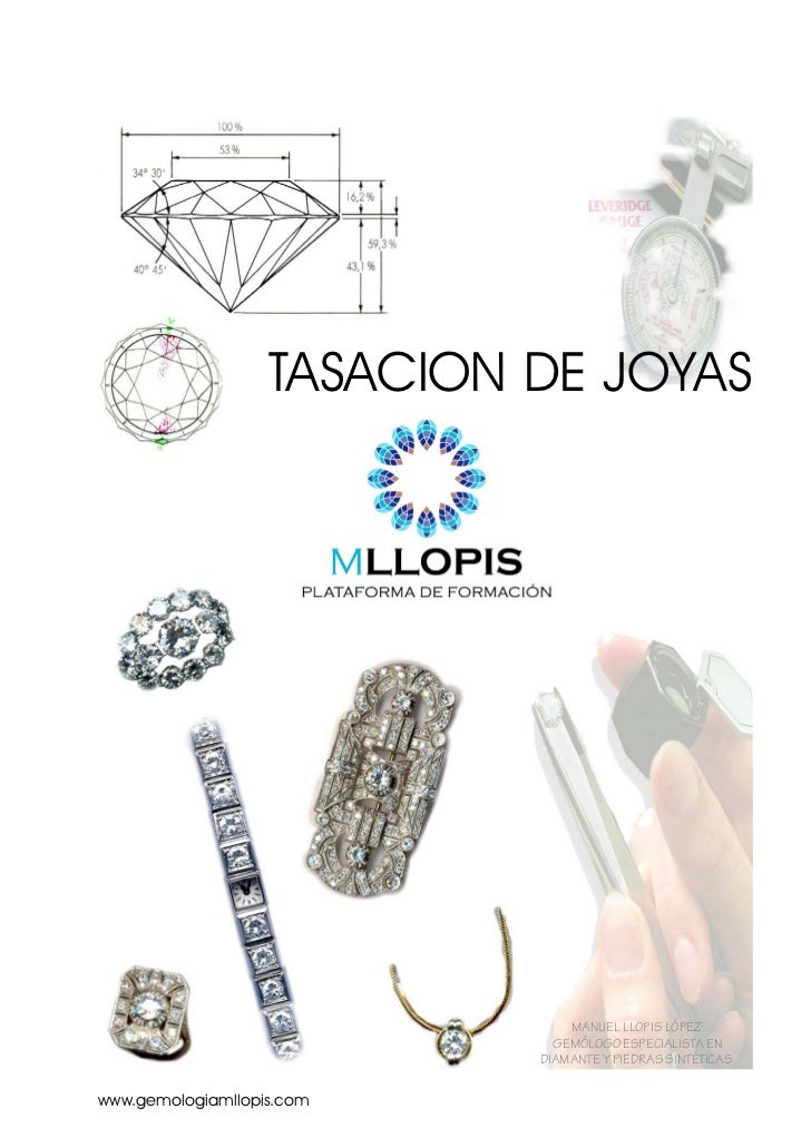 TASACION DE JOYAS                                MANUEL LLOPIS LÓPEZ                              GEMÓLOGO ESPECIALISTA EN...