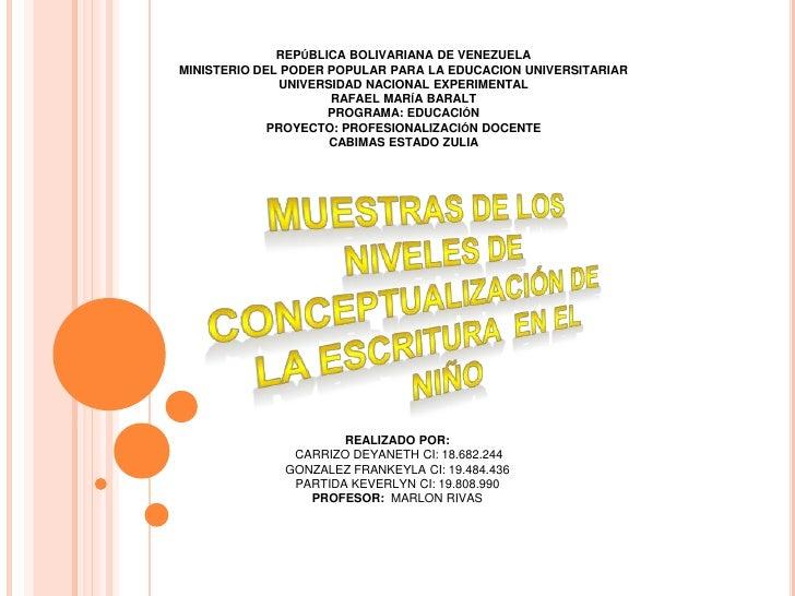REPÚBLICA BOLIVARIANA DE VENEZUELA<br />MINISTERIO DEL PODER POPULAR PARA LA EDUCACION UNIVERSITARIAR<br />UNIVERSIDAD NAC...