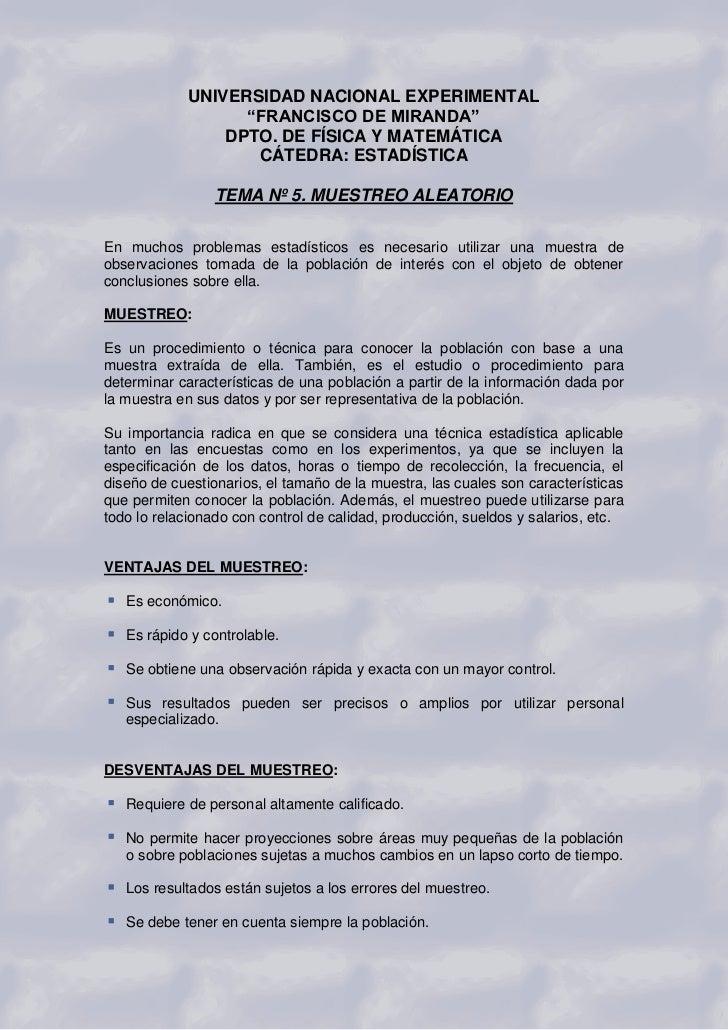 """UNIVERSIDAD NACIONAL EXPERIMENTAL                   """"FRANCISCO DE MIRANDA""""                 DPTO. DE FÍSICA Y MATEMÁTICA   ..."""