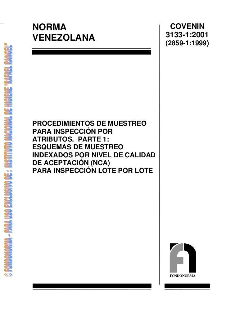 NORMA                             COVENINVENEZOLANA                       3133-1:2001                                 (285...