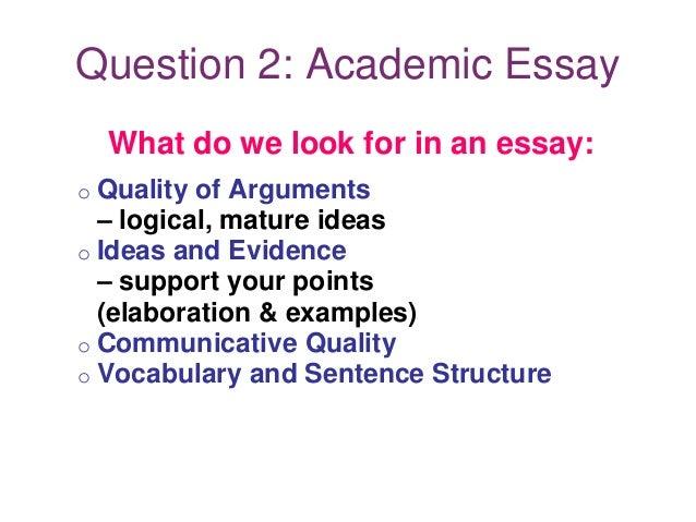 Good Essay Format