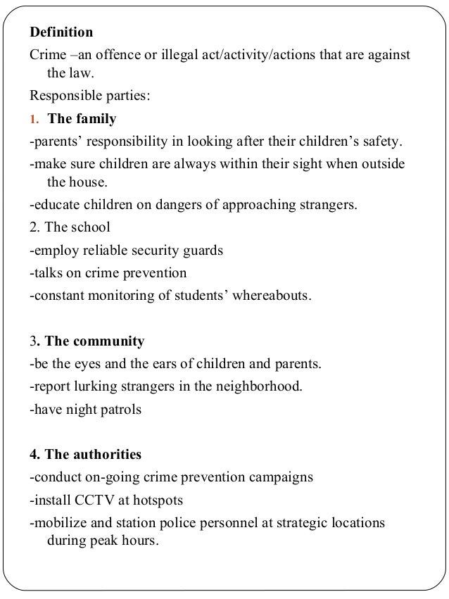 School safety patrol essay