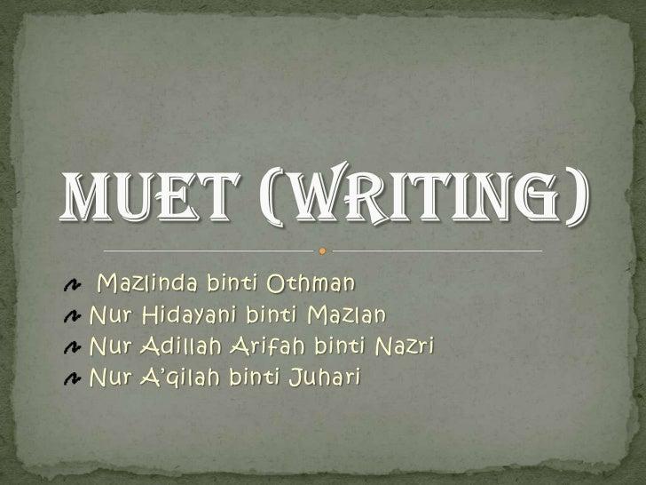Muet (writing)