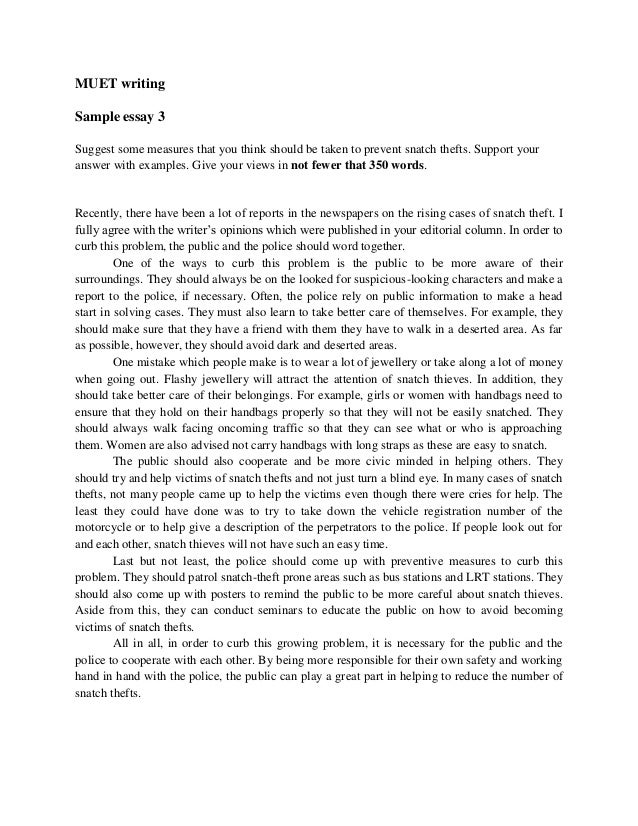 muet writing essay example