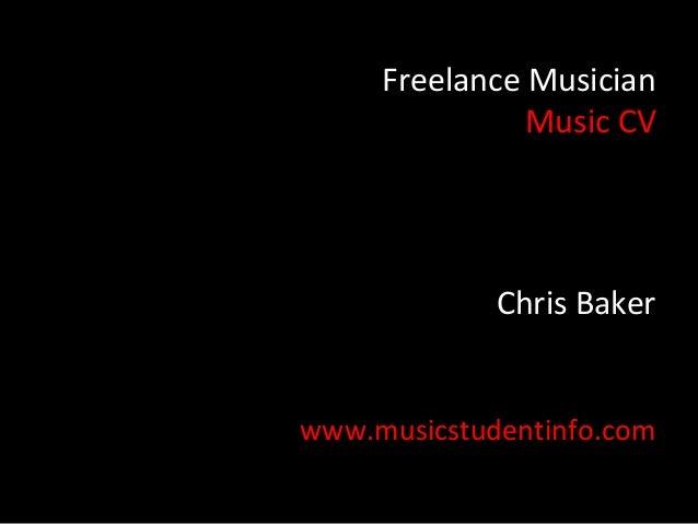 Music CV Exercise