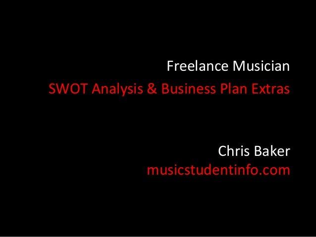 Freelance Musician Funding SWOT Analysis