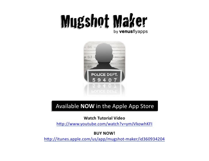Sign generator mugshot