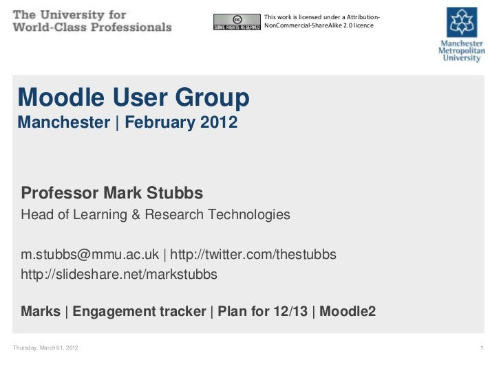 Moodle User Group Update 2012-02-29