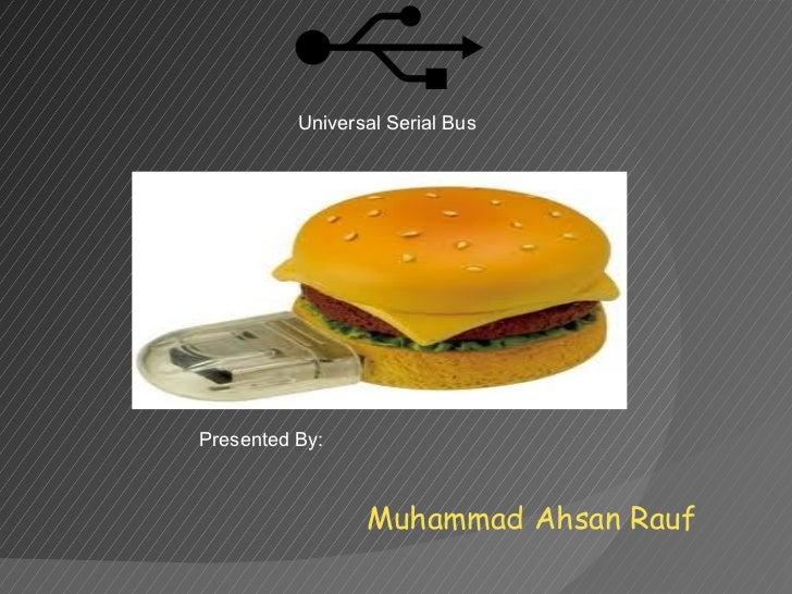 Muhammad Ahsan Rauf Presentation about USB