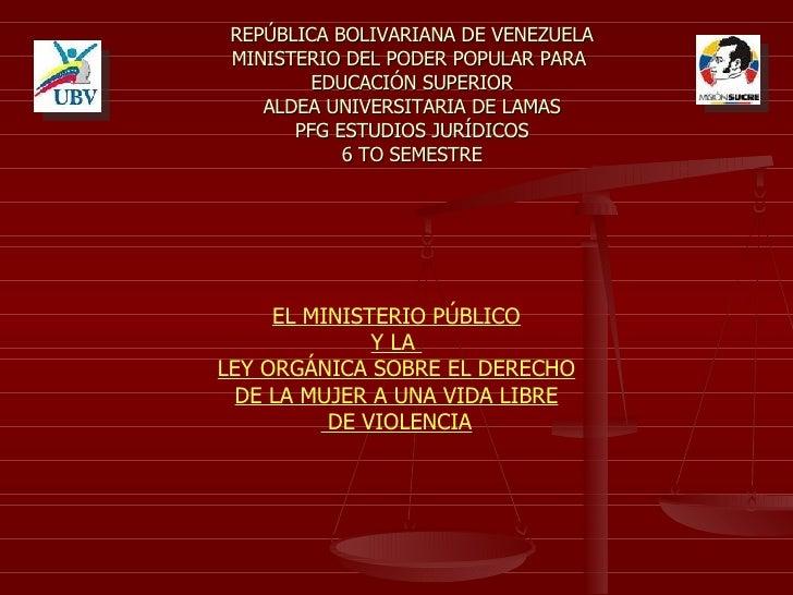 REPÚBLICA BOLIVARIANA DE VENEZUELA MINISTERIO DEL PODER POPULAR PARA  EDUCACIÓN SUPERIOR ALDEA UNIVERSITARIA DE LAMAS PFG ...