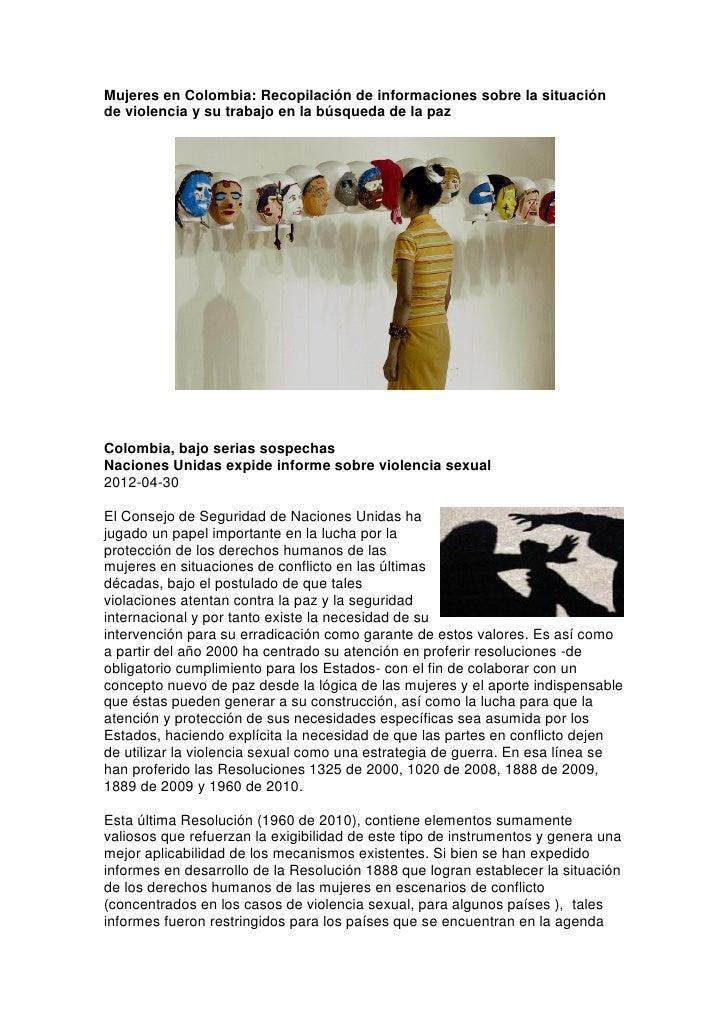 Mujeres en colombia varias noticias