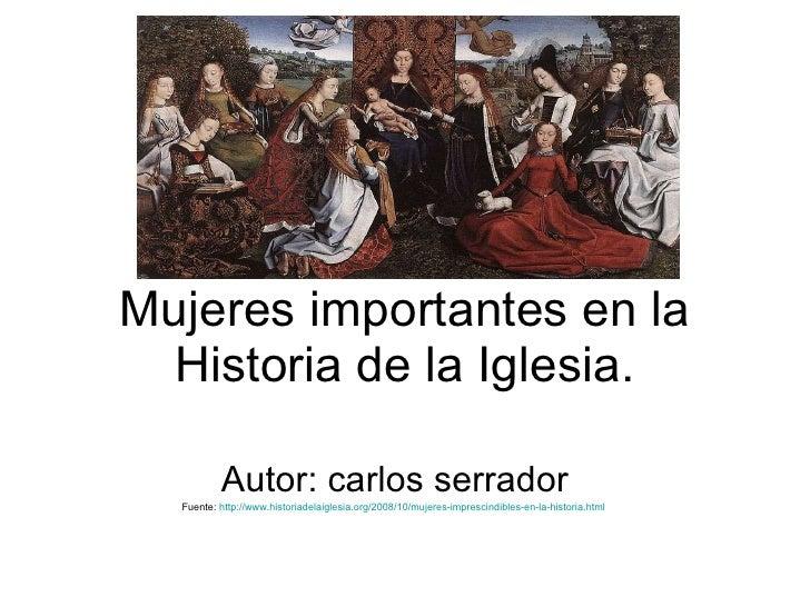 Mujeres importantes en la historia de la iglesia