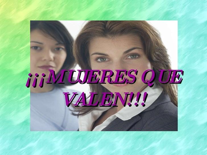 Mujeres que valen