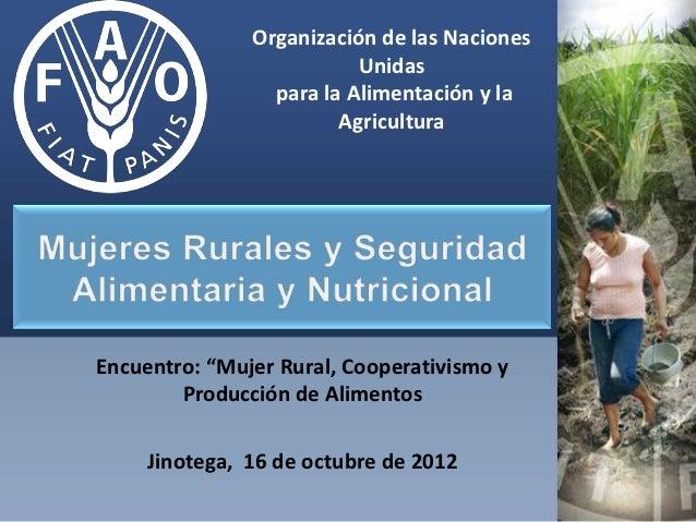 Mujeres rurales y san