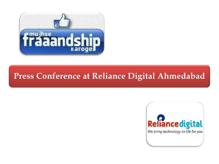 Press Conference at Reliance Digital Ahmedabad<br />