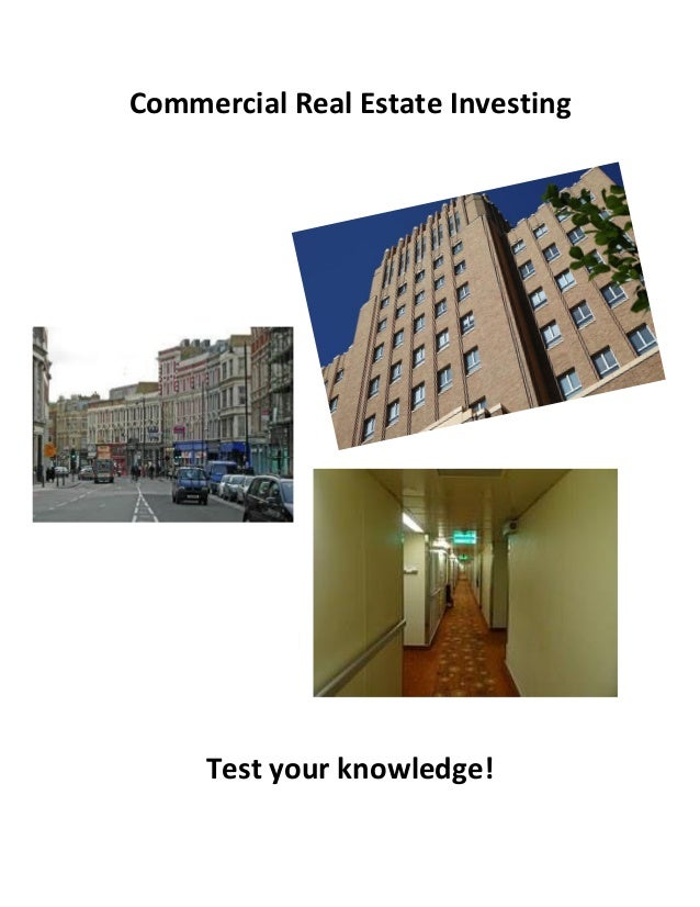 commercial real estate investing for dummies pdf