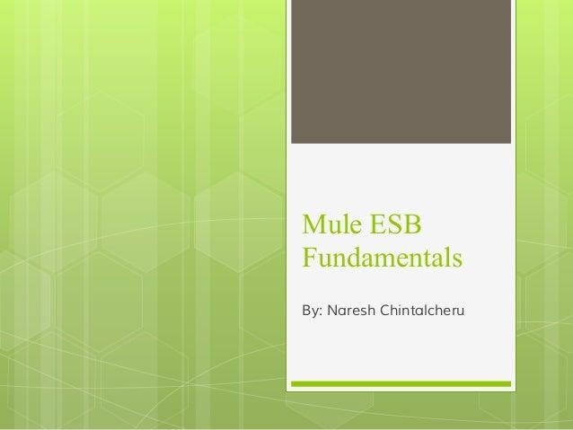 Mule ESB Fundamentals By: Naresh Chintalcheru