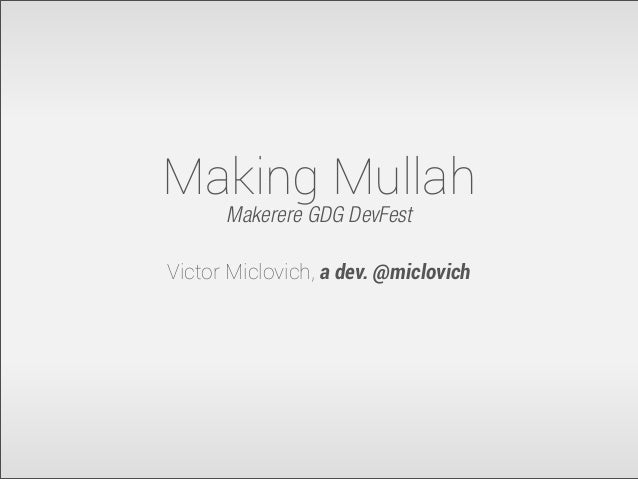 Making Mullah with your apps