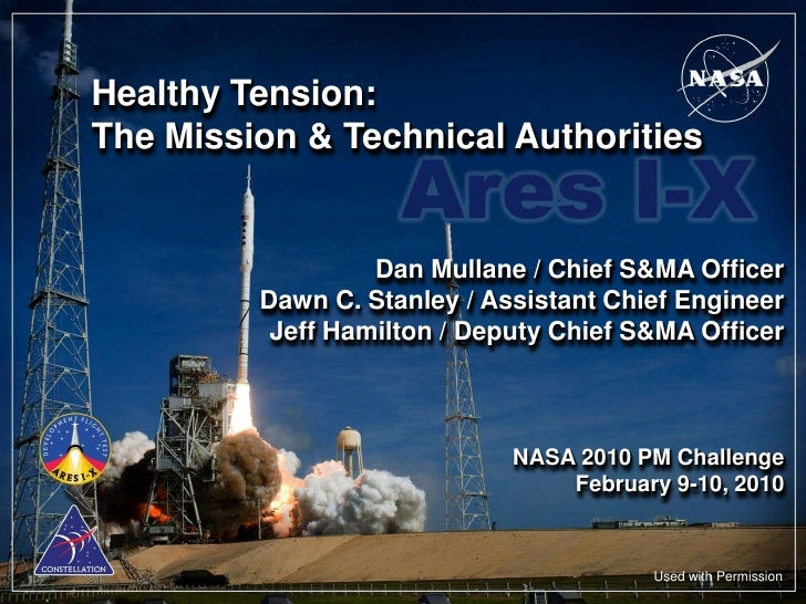 Healthy Tension:The Mission & Technical Authorities                  Dan Mullane / Chief S&MA Officer         Dawn C. Stan...