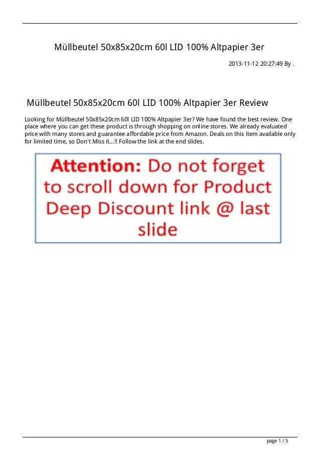 Müllbeutel 50x85x20cm 60l LID 100% Altpapier 3er 2013-11-12 20:27:49 By .  Müllbeutel 50x85x20cm 60l LID 100% Altpapier 3e...
