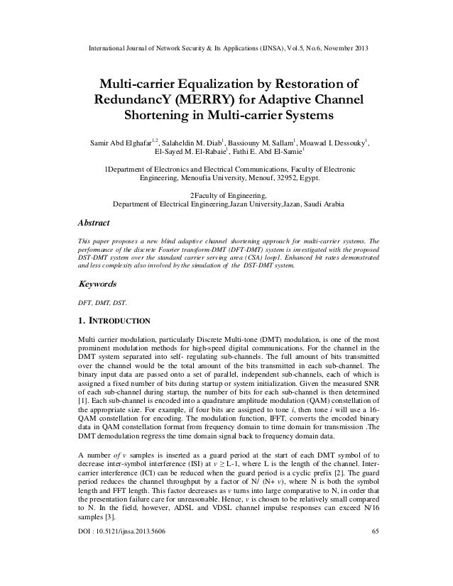 Multi carrier equalization by restoration of redundanc y (merry) for adaptive channel shortening in multi-carrier systems