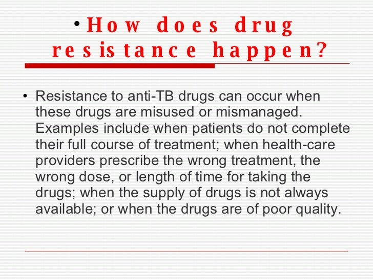 tuberculosis antibiotic resistance essay Multidrug-resistant tuberculosis despite the availability of several effective antibiotics, tb continued to be a widespread disease and the causative agent of death.