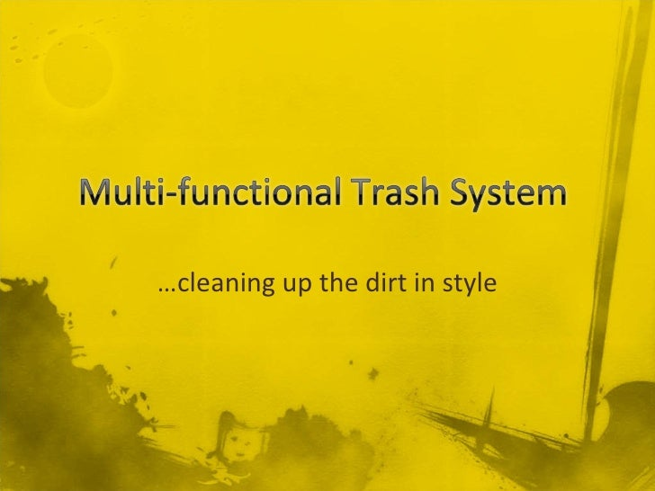 … cleaning up the dirt in style