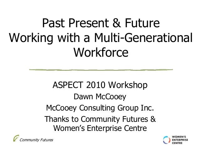 Community Futures Past Present & Future Working with a Multi-Generational Workforce ASPECT 2010 Workshop Dawn McCooey McCo...