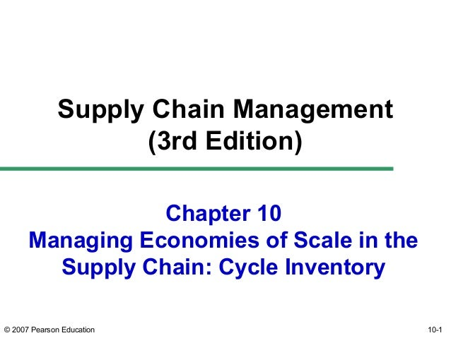 Supply Chain Management (3rd Edition) Chapter 10 Managing Economies of Scale in the Supply Chain: Cycle Inventory © 2007 P...