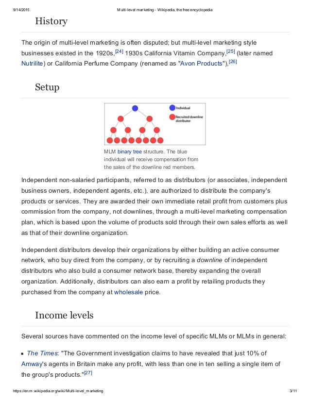 what is multi level marketing pdf