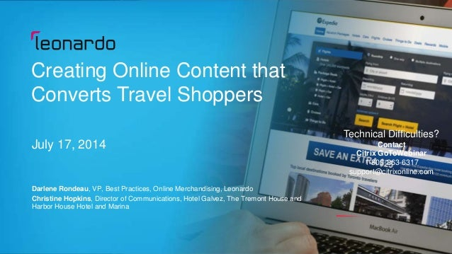 Creating Online Content that Converts Travel Shoppers