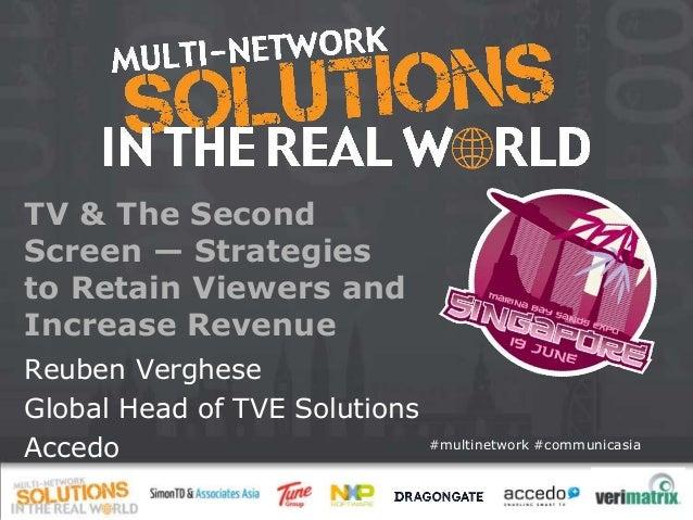 CommunicAsia 2013, Multi-network Forum - Accedo