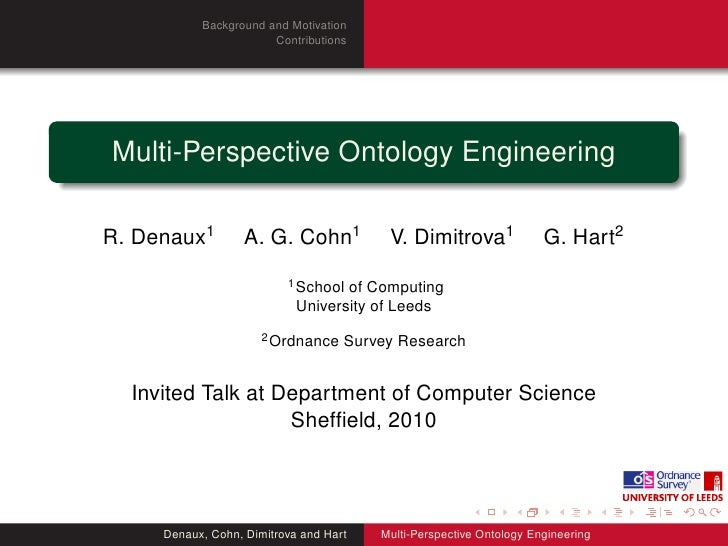 Background and Motivation                        Contributions     Multi-Perspective Ontology Engineering  R. Denaux1     ...