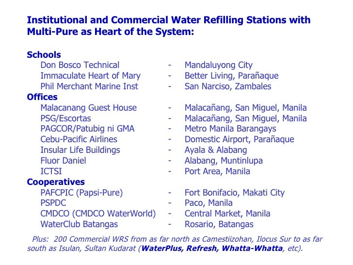 Water refilling station business plan pdf