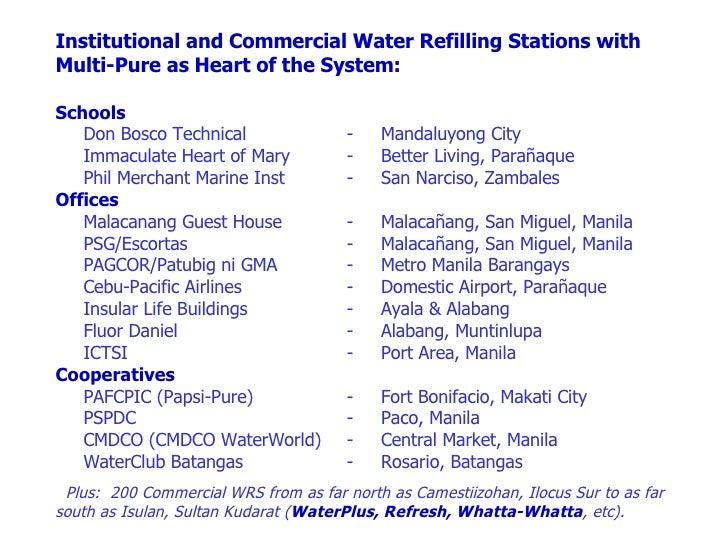 water refilling station business plan pdf