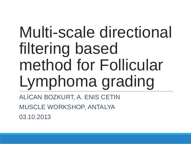 Multi Scale Directional Filtering Based Method for Follicular Lymphoma Grading