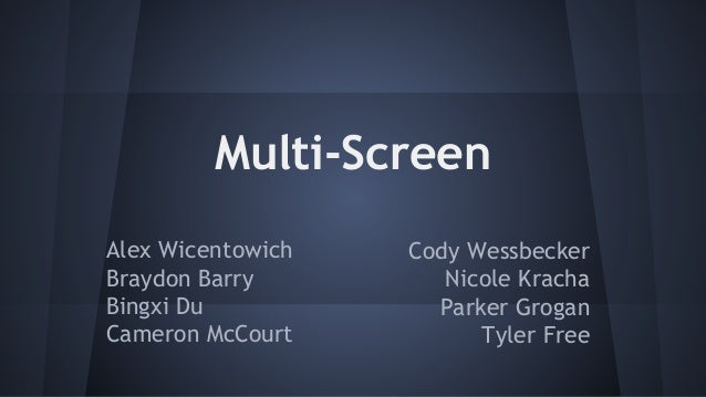 Multi Screen Presentation