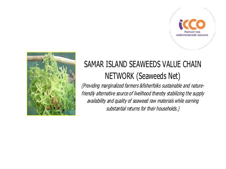 SAMAR ISLAND SEAWEEDS VALUE CHAIN       NETWORK (Seaweeds Net)(Providing marginalized farmers &fisherfolks sustainable and...