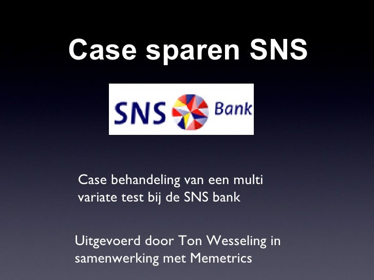 Multi vartiate Case SNS