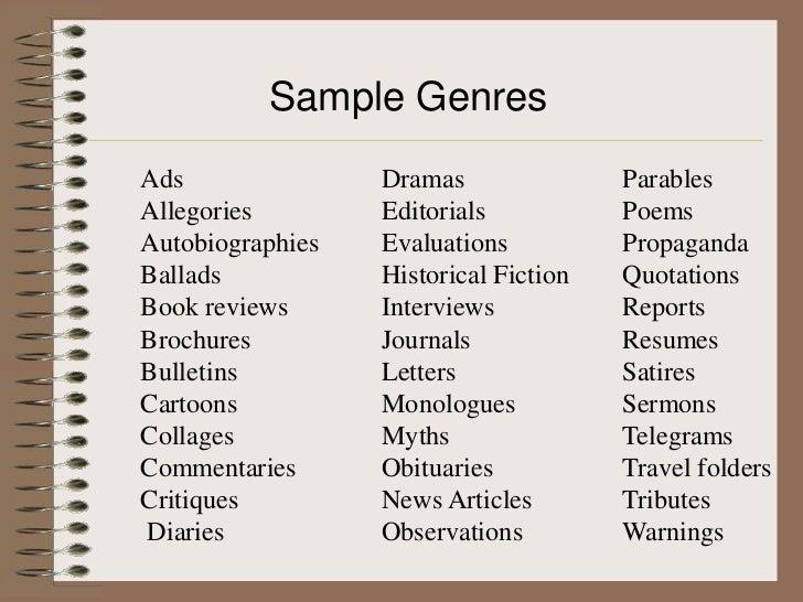 Multi genre essay
