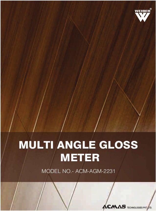 Multi Angle Gloss Meter by ACMAS Technologies Pvt Ltd.