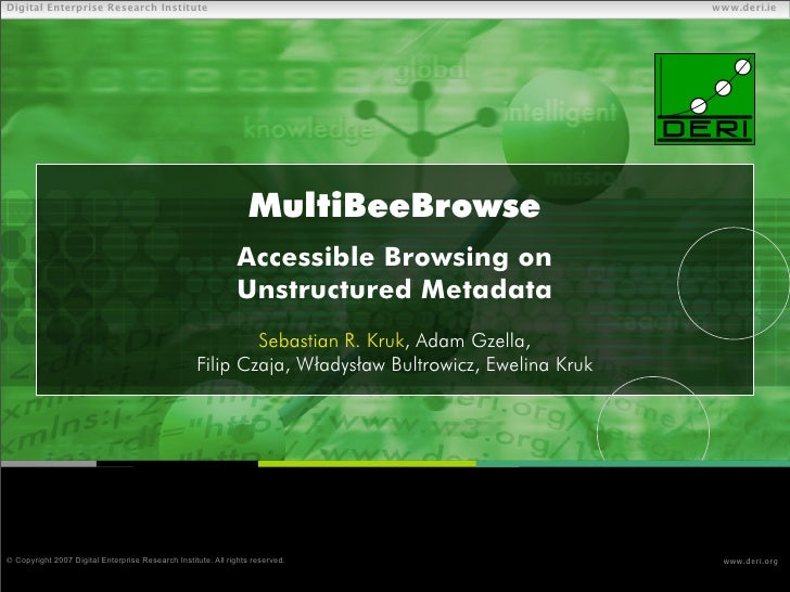 MultiBeeBrowse - Accessible Browsing on Unstructured Metadata