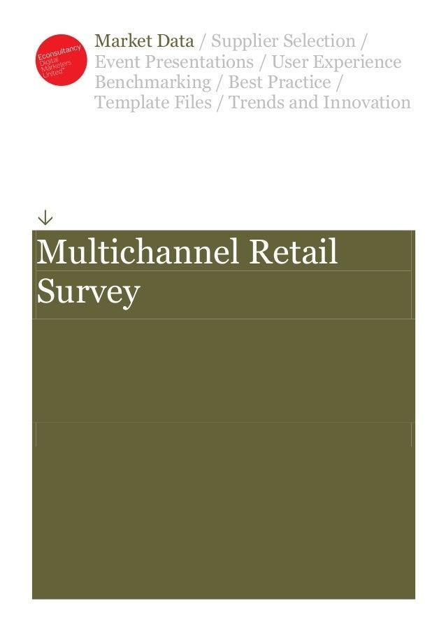 Multichannel retail survey