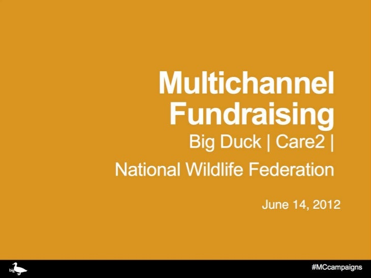 Multichannel Fundraising Workshop - Care2, Big Duck, NWF