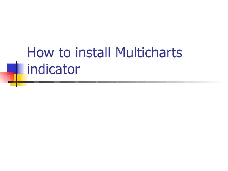 How to install Multicharts indicator