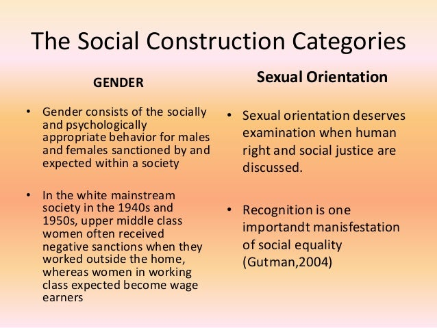 evaluate the idea that gender and sexuality are socially constructed essay Gender refers to the socially constructed characteristics of women and men – such as norms, roles and relationships of and between groups of women and men.
