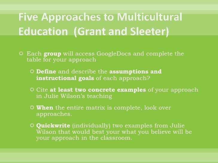 gunilla holms goals for multicultural education